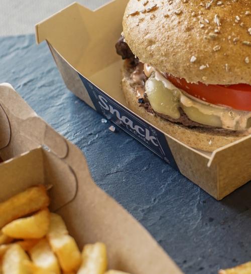 Street Food Verpackungen Burger