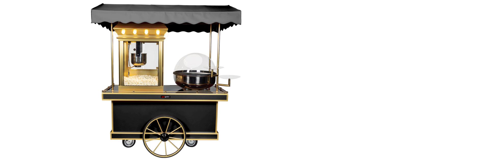 Street Food Style Zuckerwatte- & Popcorn Stand