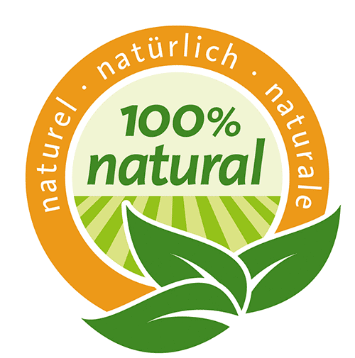 Label 100% natural EDNA