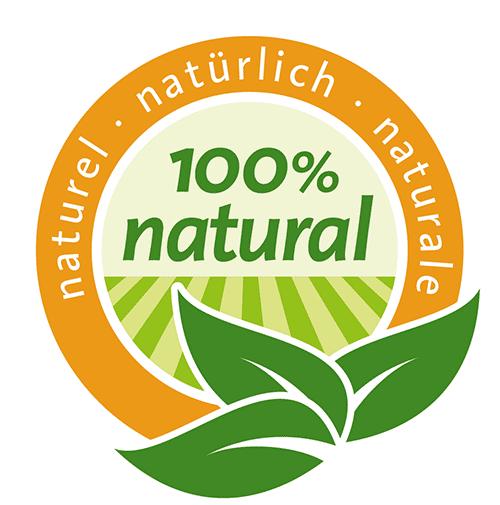 Label 100% natural EDNA